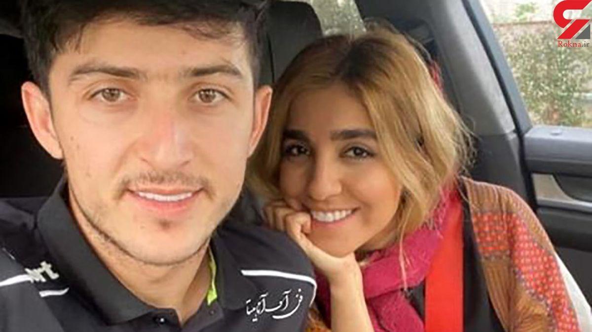 سردار آزمون و نامزد ایرانی اش باز جنجال کردند ! + عکس