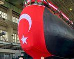اردوغان از اولین زیردریایی بومی ترکیه رونمایی کرد+عکس