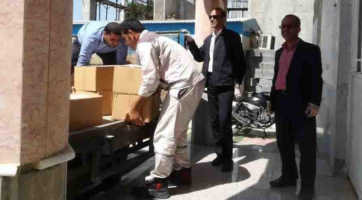 توزیع ضدعفونی کننده بین مردم بندرعسلویه و نخل تقی آغاز شد
