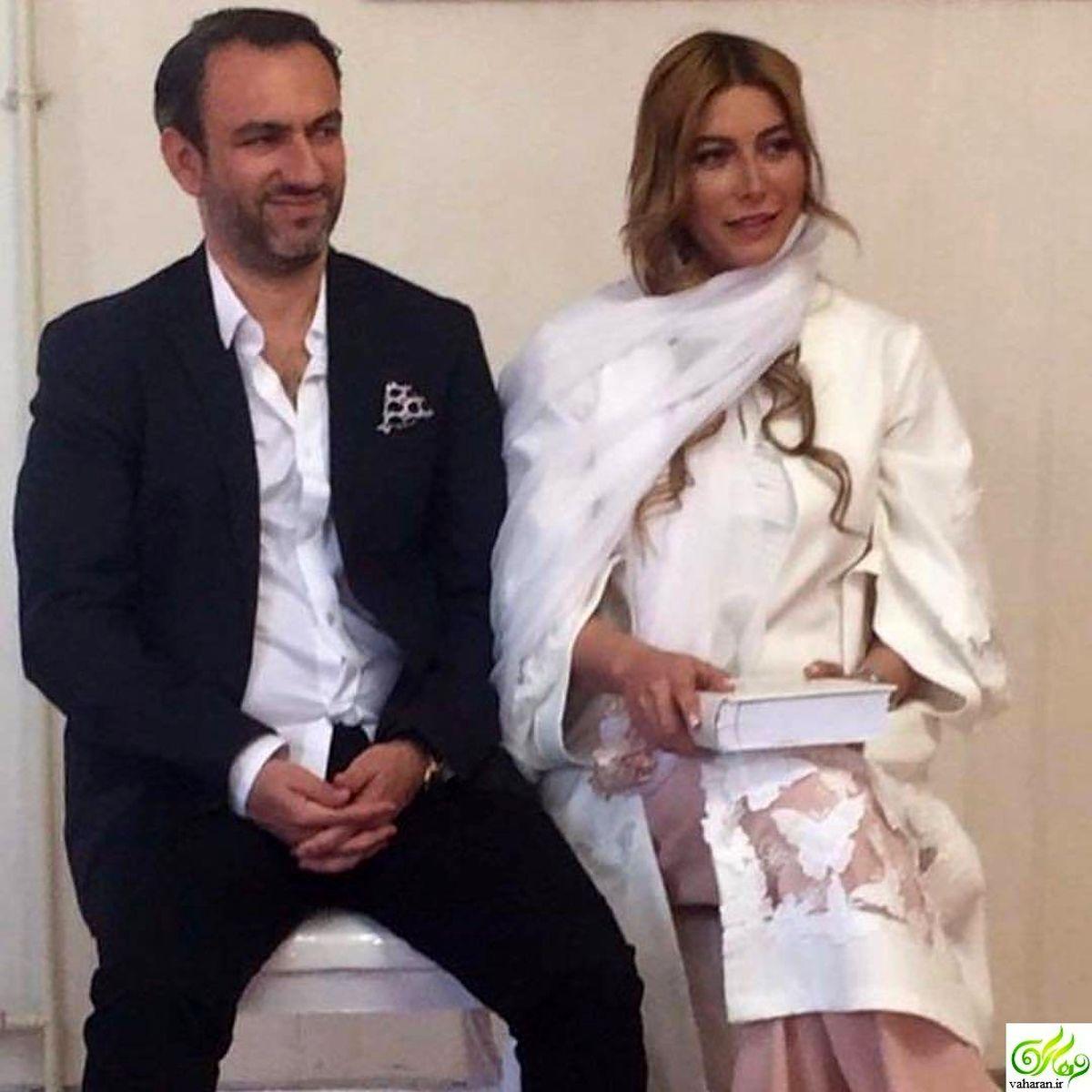 عاشقانه های بی حجاب فریبا نادری و همسرش در تخت خواب جنجالی شد + عکس