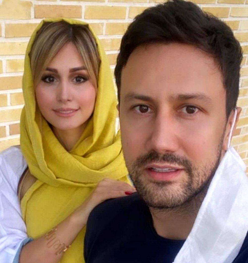 عکس دیده نشده شاهرخ استخری و همسرش