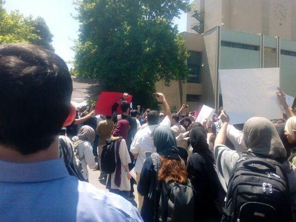 جزئیات تجمع و درگیری امروز دانشگاه تهران + تصاویر
